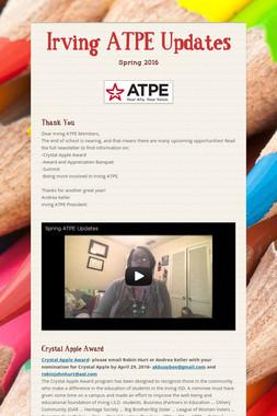 Irving ATPE Updates