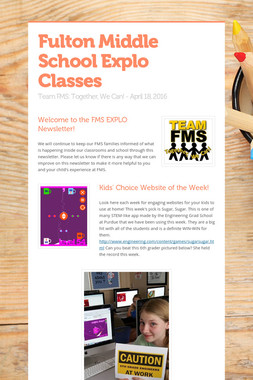 Fulton Middle School Explo Classes