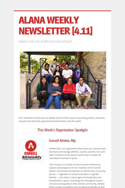 ALANA WEEKLY NEWSLETTER [4.11]