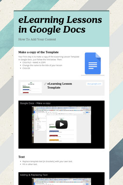 eLearning Lessons in Google Docs