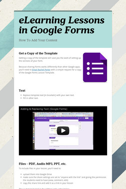 eLearning Lessons in Google Forms
