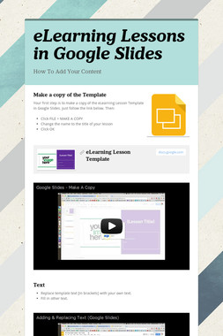 eLearning Lessons in Google Slides