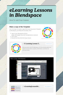 eLearning Lessons in Blendspace