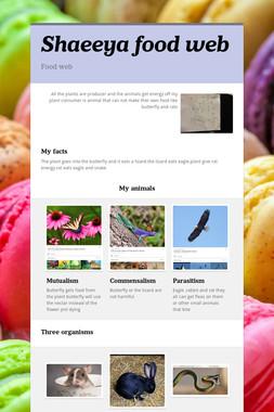 Shaeeya food web