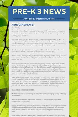 PRE-K 3 News
