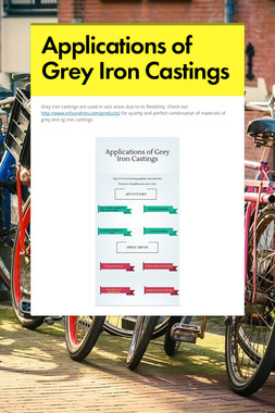 Applications of Grey Iron Castings