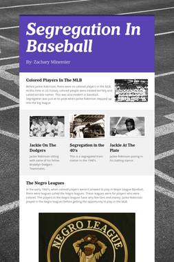 Segregation In Baseball