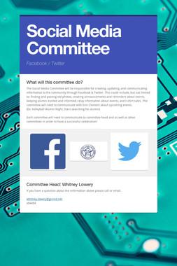 Social Media Committee