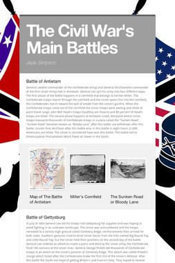 The Civil War's Main Battles