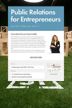 Public Relations for Entrepreneurs
