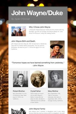 John Wayne/Duke