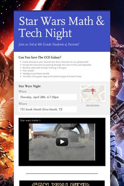 Star Wars Math & Tech Night