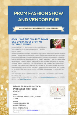 Prom Fashion Show and Vendor Fair