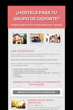 ¿Hostels para tu Grupo de Deporte?