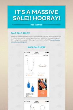 It's a Massive Sale!! Hooray!