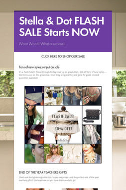 Stella & Dot FLASH SALE Starts NOW