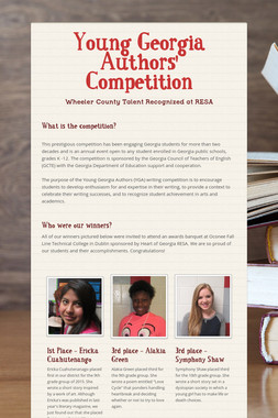 Young Georgia Authors' Competition