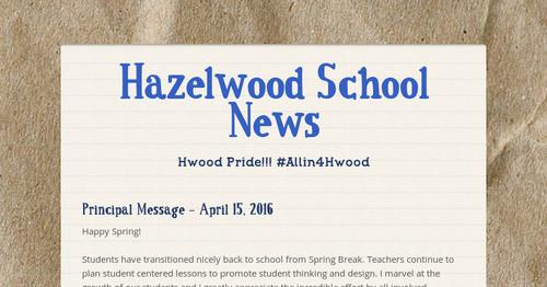 19 Hazelwood School ...