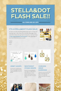 stella&dot flash sale!!