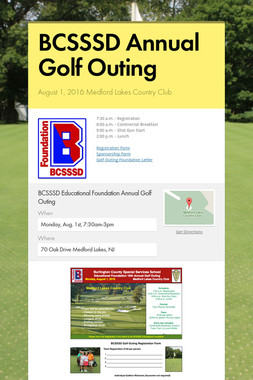BCSSSD Annual Golf Outing