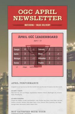 oGC April Newsletter