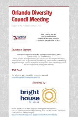 Orlando Diversity Council Meeting