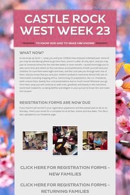 Castle Rock West Week 23