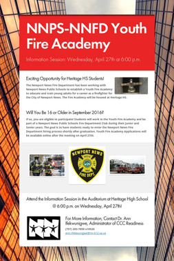 NNPS-NNFD Youth Fire Academy