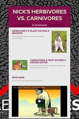 nick's herbivores vs. carnivores