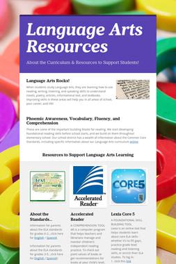 Language Arts Resources