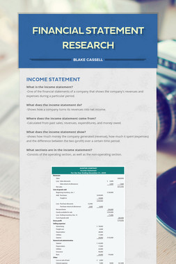 Financial Statement Research