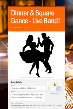 Dinner & Square Dance - Live Band!