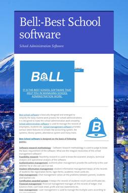 Bell:-Best School software
