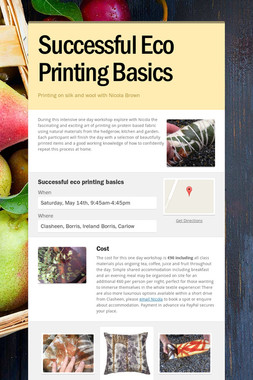 Successful Eco Printing Basics