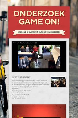 Onderzoek Game On!