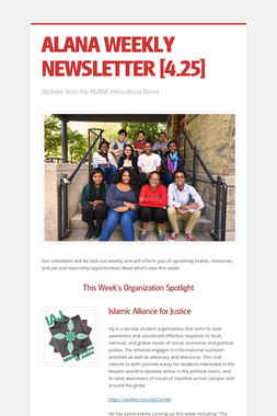 ALANA WEEKLY NEWSLETTER [4.25]