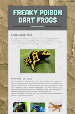 Freaky Poison Dart Frogs