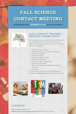 Fall Science Contact Meeting
