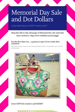 Memorial Day Sale and Dot Dollars