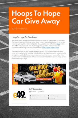 Hoops To Hope Car Give Away