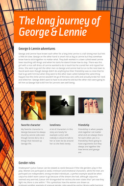 The long journey of George & Lennie