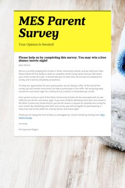 MES Parent Survey