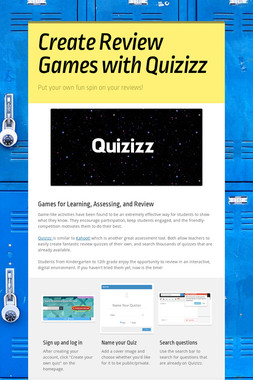 Create Review Games with Quizizz