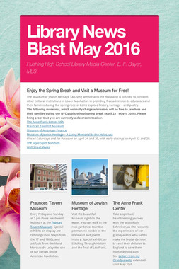 Library News Blast May  2016