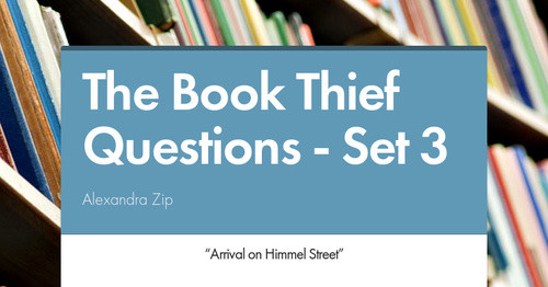 The Book Thief Questions Set 3 Smore Newsletters For Education