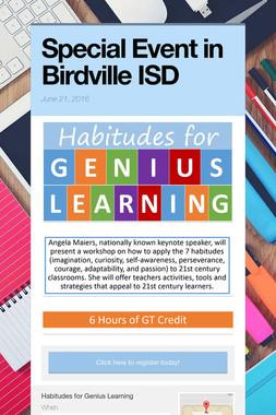 Special Event in Birdville ISD