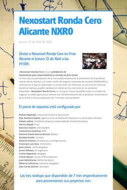 Nexostart Ronda Cero Alicante NXR0