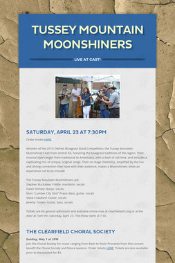 Tussey Mountain Moonshiners