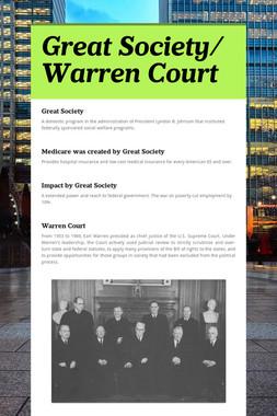 Great Society/ Warren Court