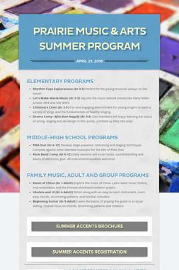 Prairie Music & Arts Summer Program